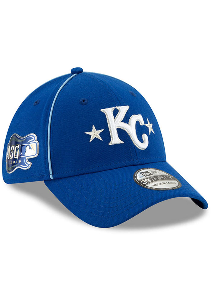 New Era Kansas City Royals Mens Blue 2019 All Star 39THIRTY Flex Hat - Image 2