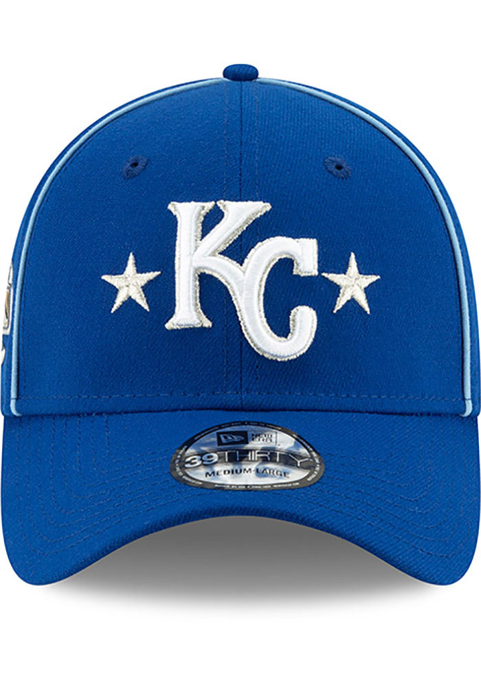 New Era Kansas City Royals Mens Blue 2019 All Star 39THIRTY Flex Hat - Image 3
