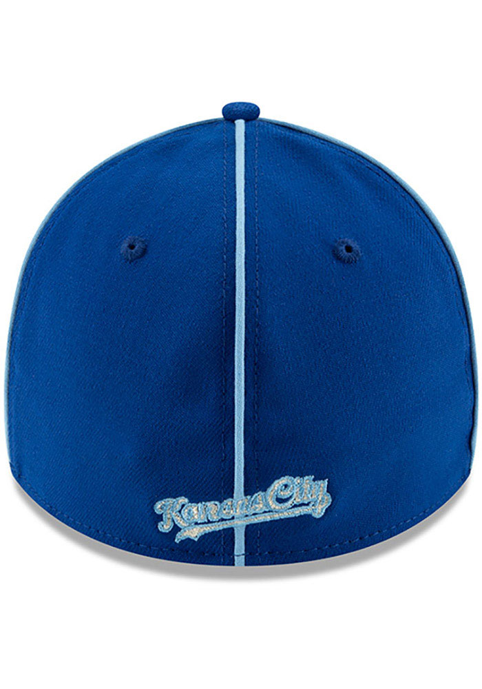New Era Kansas City Royals Mens Blue 2019 All Star 39THIRTY Flex Hat - Image 5