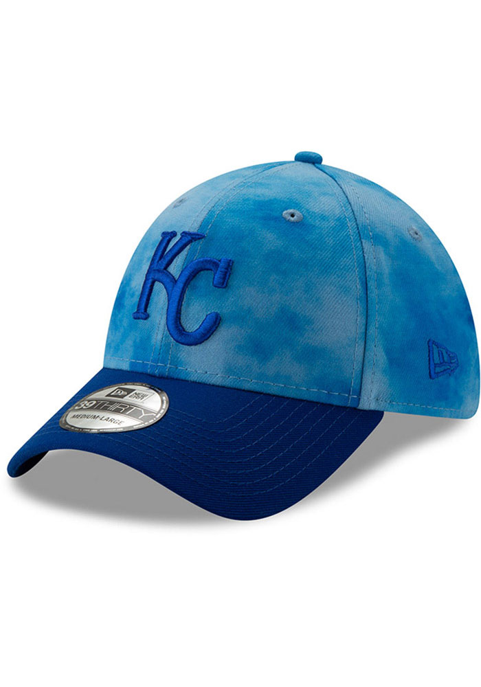 New Era Kansas City Royals Mens Blue 2019 Father's Day 39THIRTY Flex Hat - Image 1