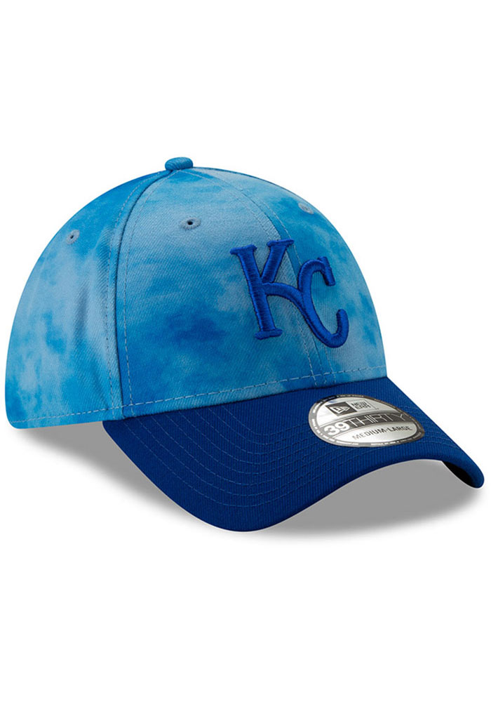 New Era Kansas City Royals Mens Blue 2019 Father's Day 39THIRTY Flex Hat - Image 2