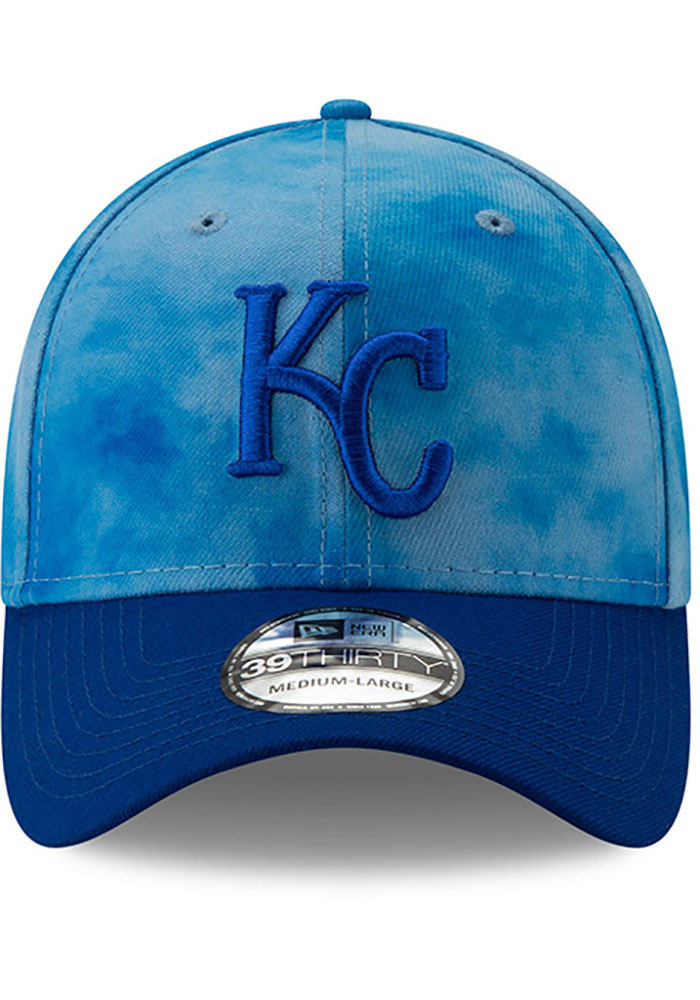 New Era Kansas City Royals Mens Blue 2019 Father's Day 39THIRTY Flex Hat - Image 3