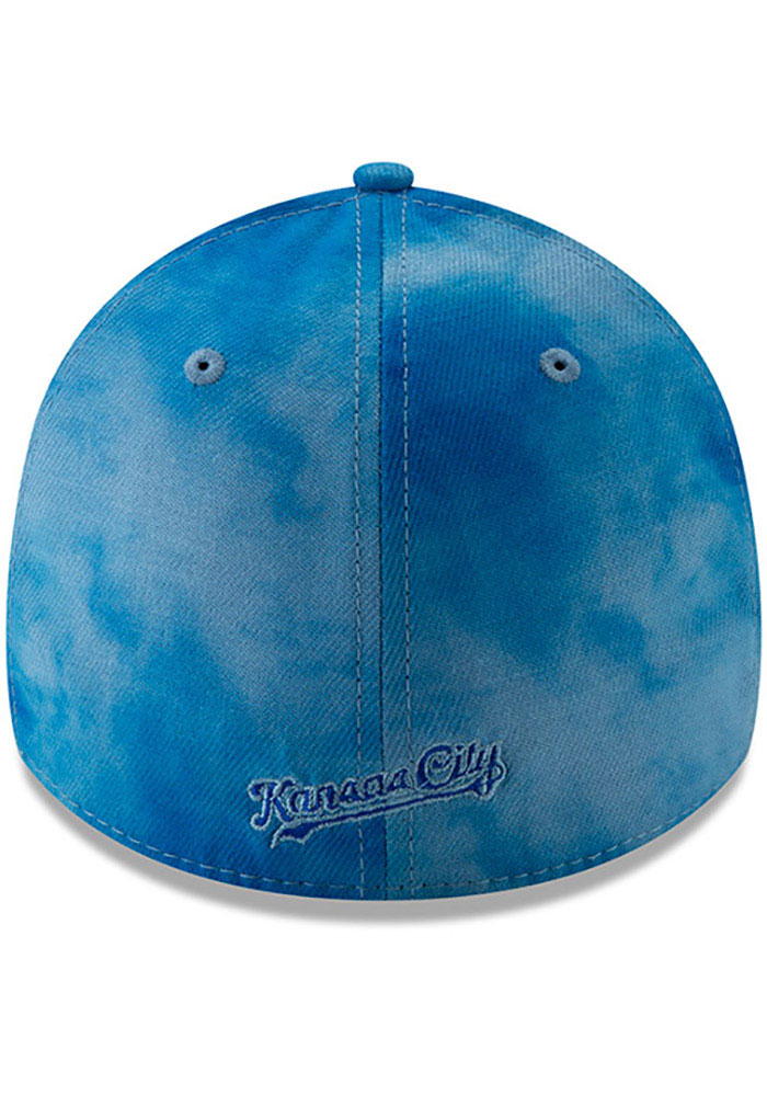 New Era Kansas City Royals Mens Blue 2019 Father's Day 39THIRTY Flex Hat - Image 5
