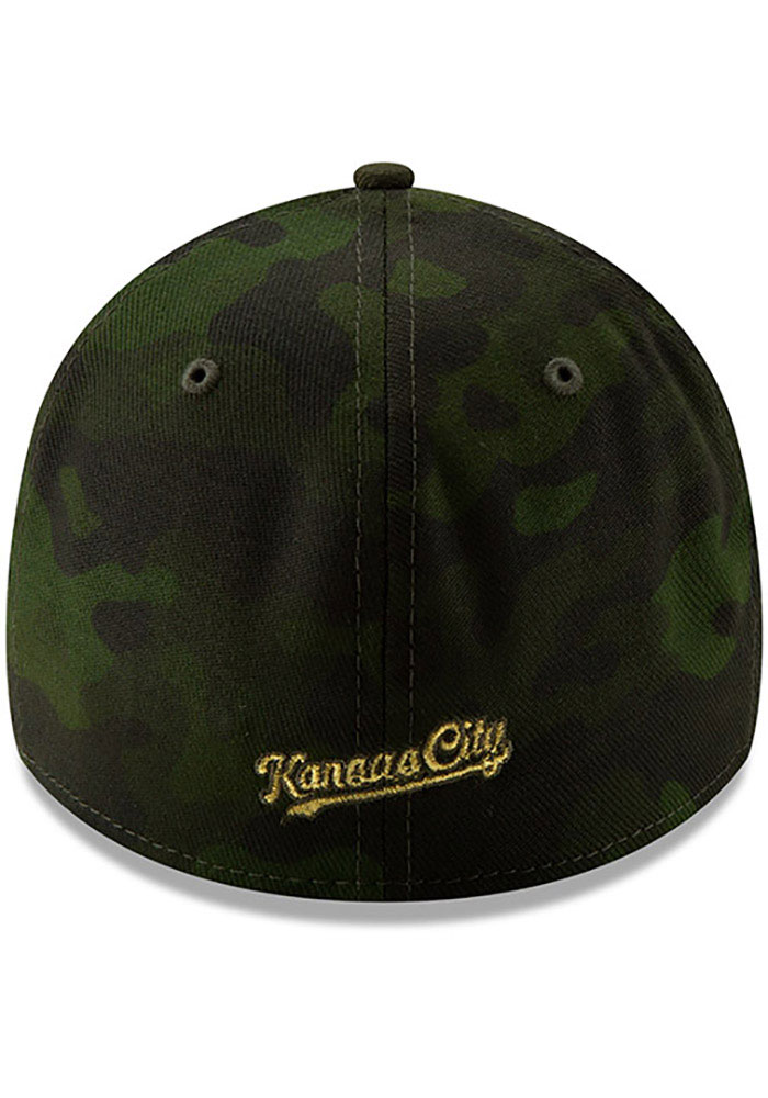 New Era Kansas City Royals Mens Green 2019 Armed Forces Day 39THIRTY Flex Hat - Image 5