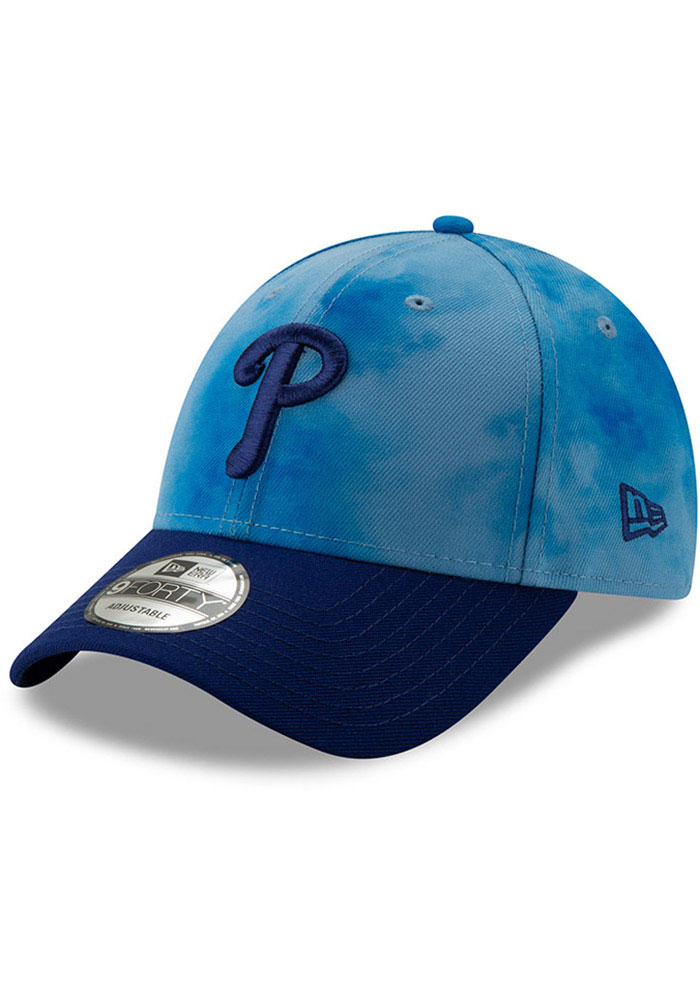 New Era Philadelphia Phillies 2019 Father's Day 9FORTY Adjustable Hat - Blue - Image 1