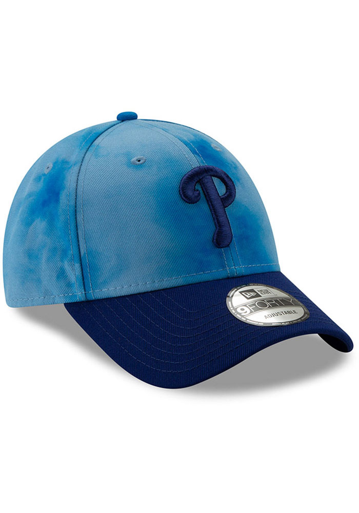New Era Philadelphia Phillies 2019 Father's Day 9FORTY Adjustable Hat - Blue - Image 2