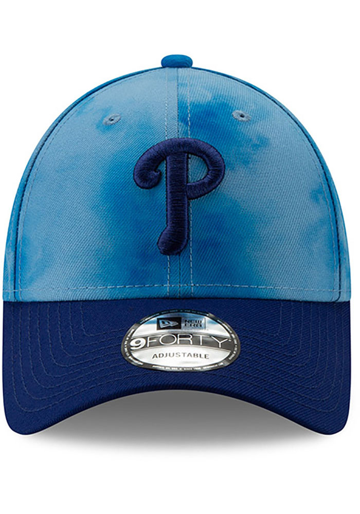 New Era Philadelphia Phillies 2019 Father's Day 9FORTY Adjustable Hat - Blue - Image 3