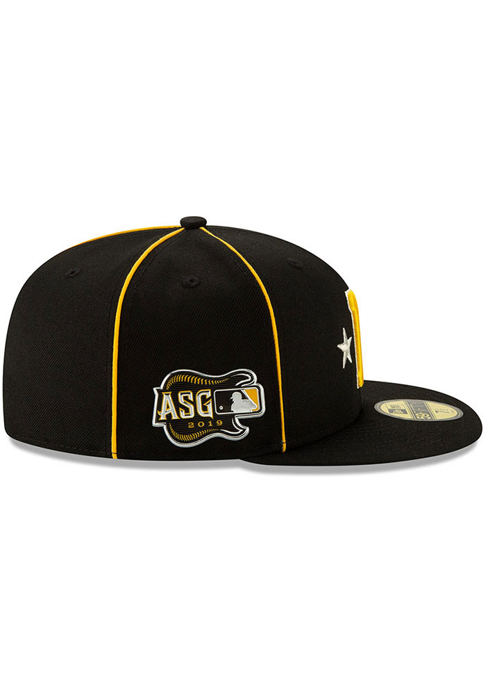 New Era Pittsburgh Pirates Mens Black 2019 All Star 59FIFTY Fitted Hat - Image 6
