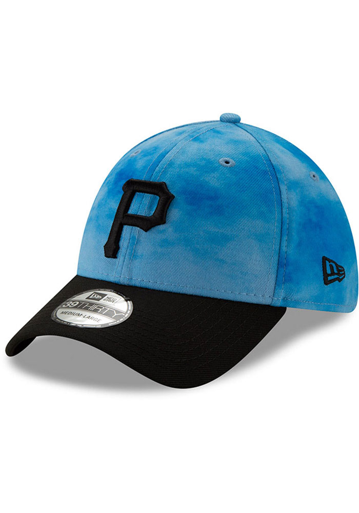 New Era Pittsburgh Pirates Mens Blue 2019 Father's Day 39THIRTY Flex Hat - Image 1