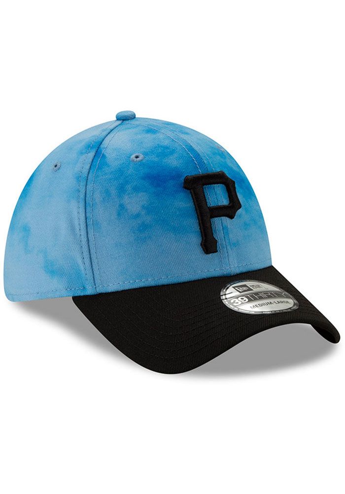 New Era Pittsburgh Pirates Mens Blue 2019 Father's Day 39THIRTY Flex Hat - Image 2