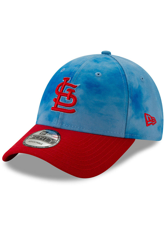New Era St Louis Cardinals 2019 Father's Day 9FORTY Adjustable Hat - Blue - Image 1