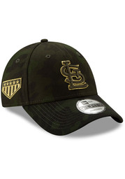 New Era St Louis Cardinals 2019 Armed Forces Day 9FORTY Adjustable Hat - Green