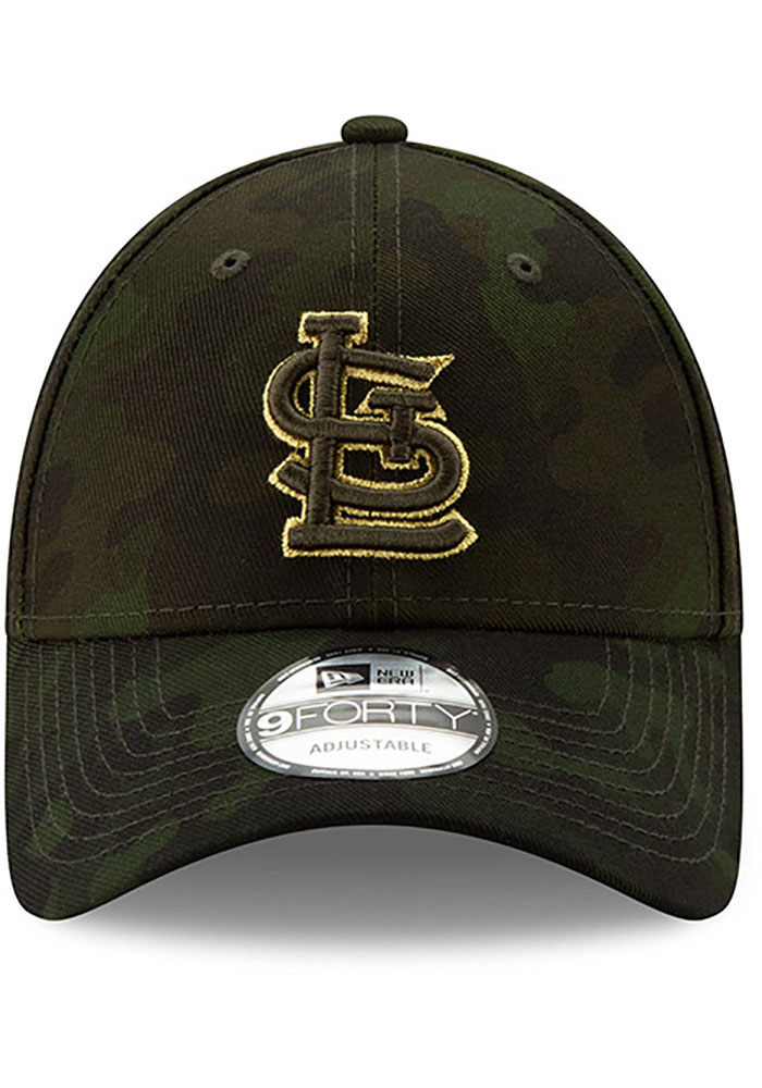 New Era St Louis Cardinals 2019 Armed Forces Day 9FORTY Adjustable Hat - Green - Image 2