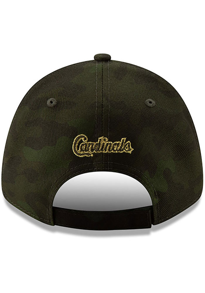 New Era St Louis Cardinals 2019 Armed Forces Day 9FORTY Adjustable Hat - Green - Image 5