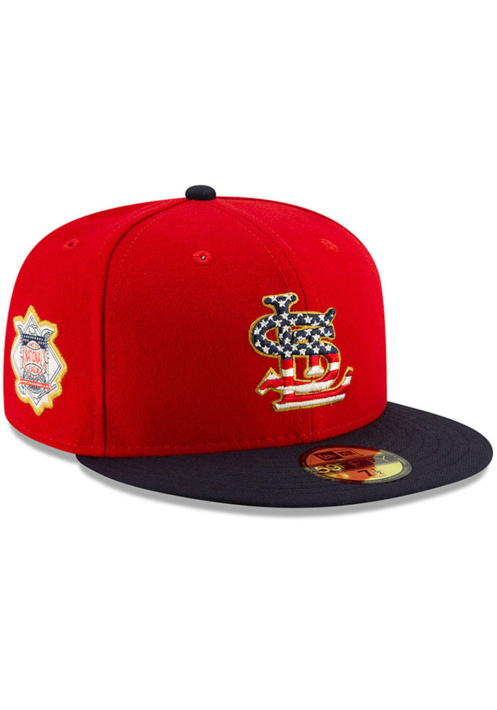 New Era St Louis Cardinals Mens Navy Blue 2019 4th of July 59FIFTY Fitted Hat - Image 2