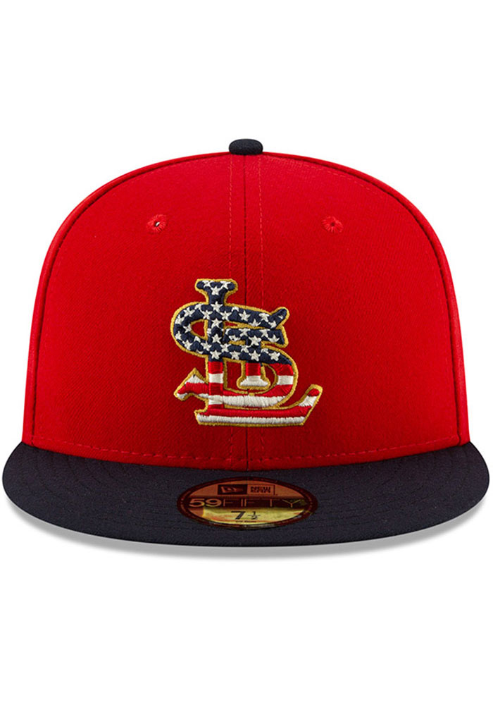 New Era St Louis Cardinals Mens Navy Blue 2019 4th of July 59FIFTY Fitted Hat - Image 3