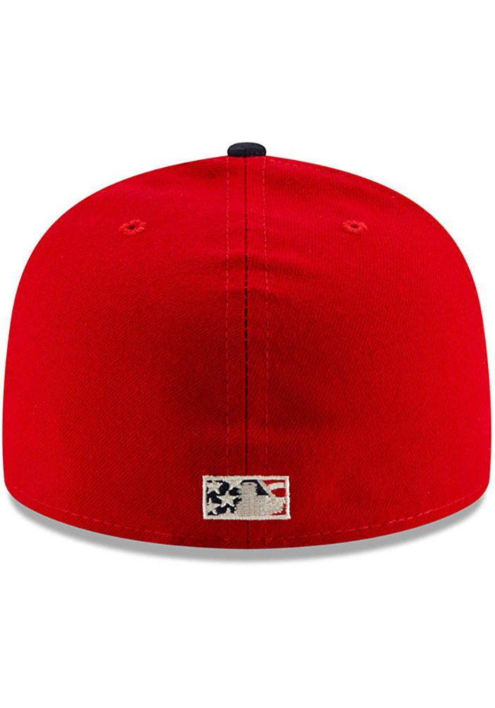 New Era St Louis Cardinals Mens Navy Blue 2019 4th of July 59FIFTY Fitted Hat - Image 5