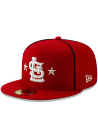 brand new ff4c5 dd607 St Louis Cardinals New Era Red 2019 All Star 59FIFTY Fitted Hat