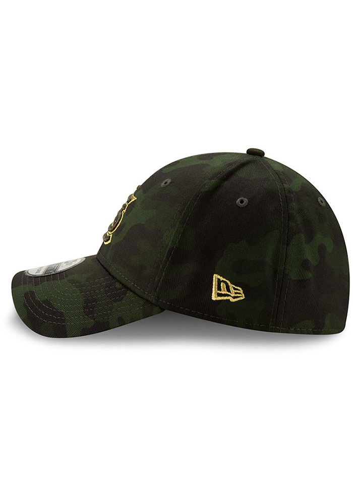 New Era St Louis Cardinals Mens Green 2019 Armed Forces Day 39THIRTY Flex Hat - Image 4