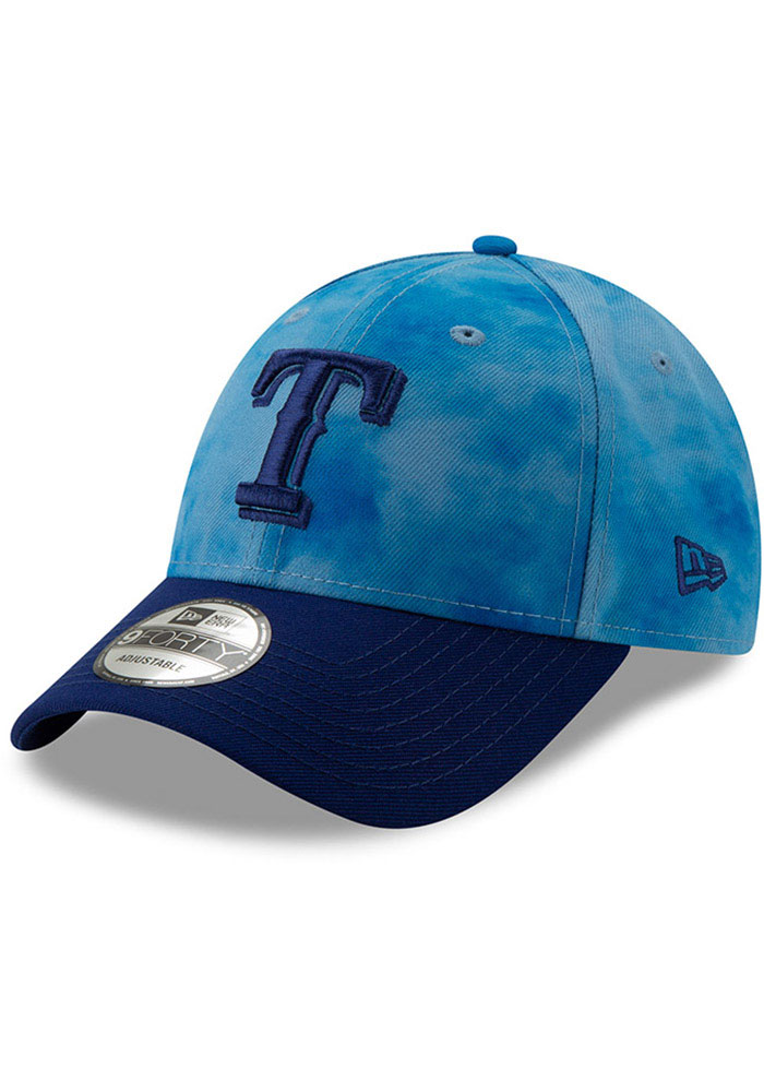 New Era Texas Rangers 2019 Fathers Day 9FORTY Adjustable Hat - Blue - Image 1