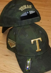 Texas Rangers New Era 2019 Armed Forces Day 9FORTY Adjustable Hat - Green