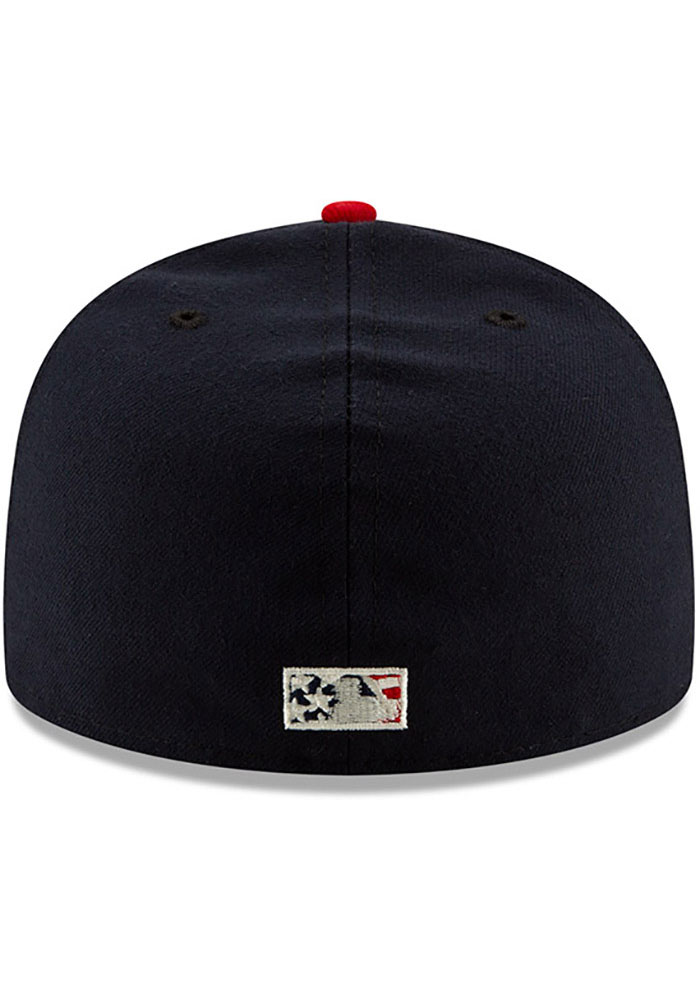 New Era Texas Rangers Mens Red 2019 4th of July 59FIFTY Fitted Hat - Image 5