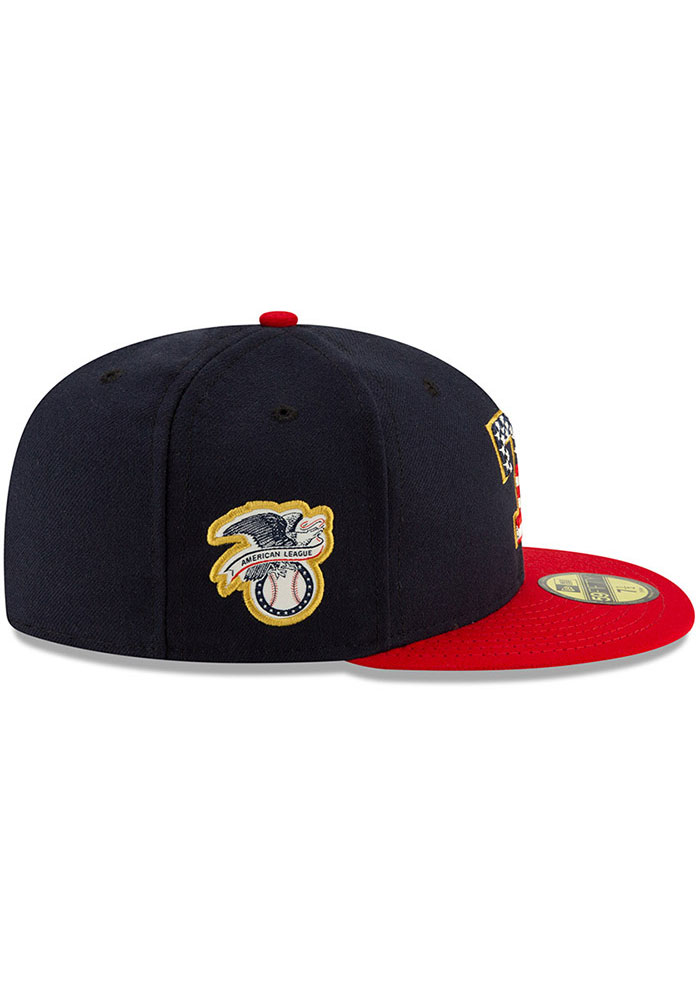 New Era Texas Rangers Mens Red 2019 4th of July 59FIFTY Fitted Hat - Image 6