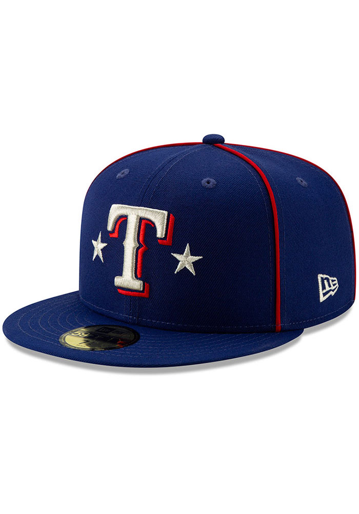 New Era Texas Rangers Mens Blue 2019 All Star 59FIFTY Fitted Hat - Image 1