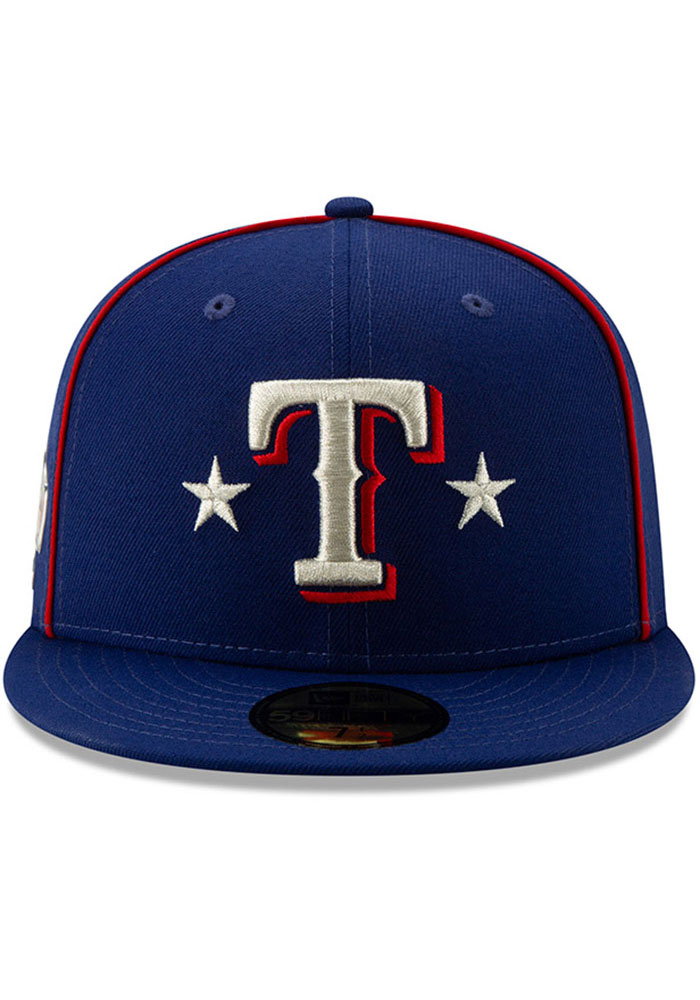New Era Texas Rangers Mens Blue 2019 All Star 59FIFTY Fitted Hat - Image 3