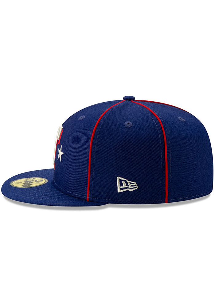 New Era Texas Rangers Mens Blue 2019 All Star 59FIFTY Fitted Hat - Image 4