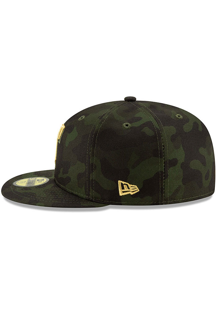 New Era Texas Rangers Mens Green 2019 Armed Forces Day 59FIFTY Fitted Hat - Image 4