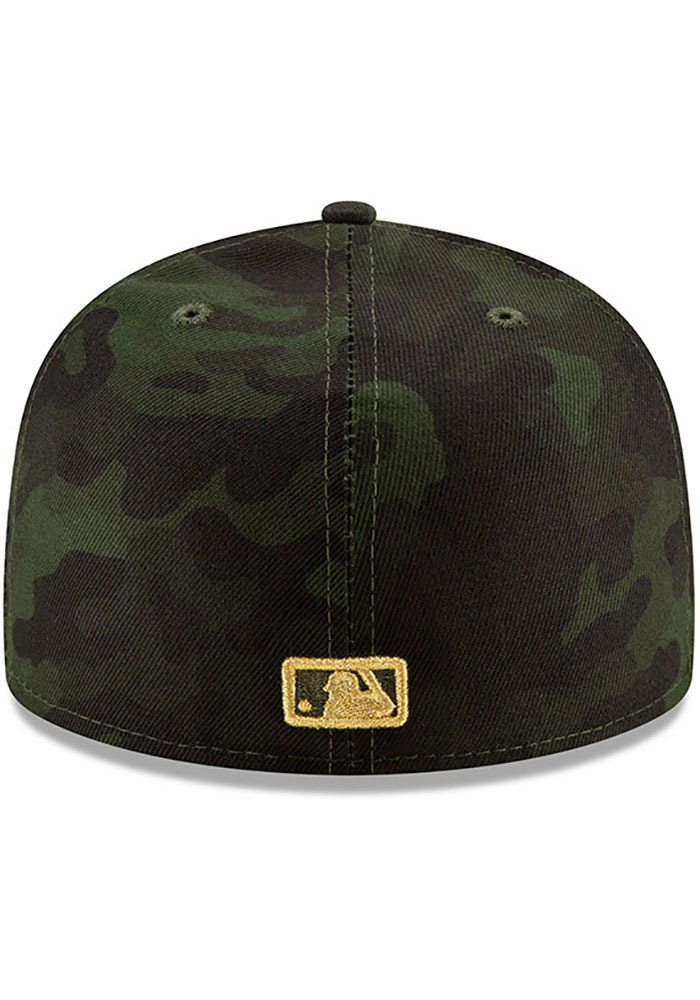 New Era Texas Rangers Mens Green 2019 Armed Forces Day 59FIFTY Fitted Hat - Image 5