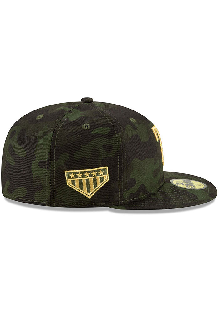 New Era Texas Rangers Mens Green 2019 Armed Forces Day 59FIFTY Fitted Hat - Image 6