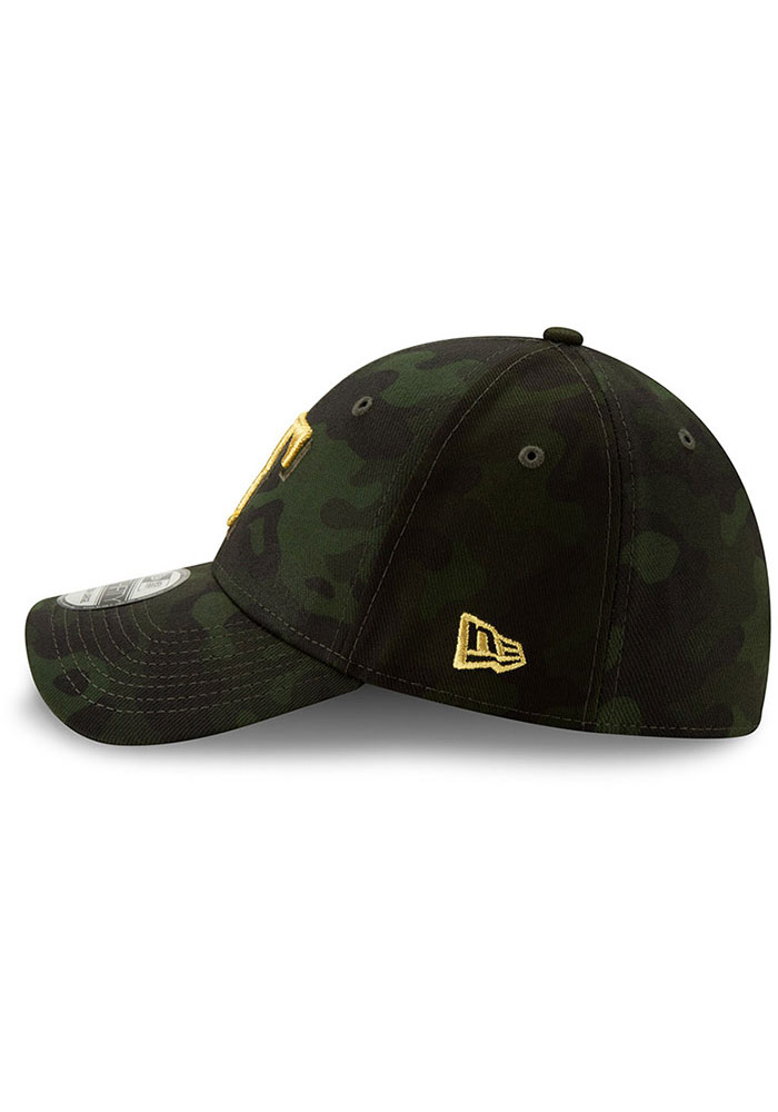 New Era Texas Rangers Mens Green 2019 Armed Forces Day 39THIRTY Flex Hat - Image 4