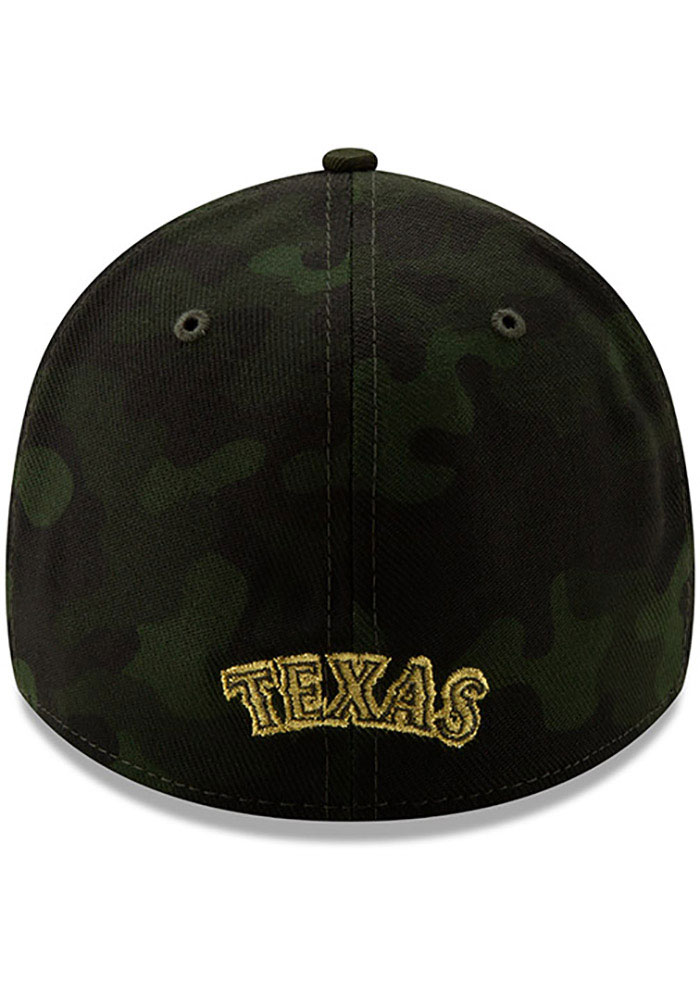 New Era Texas Rangers Mens Green 2019 Armed Forces Day 39THIRTY Flex Hat - Image 5