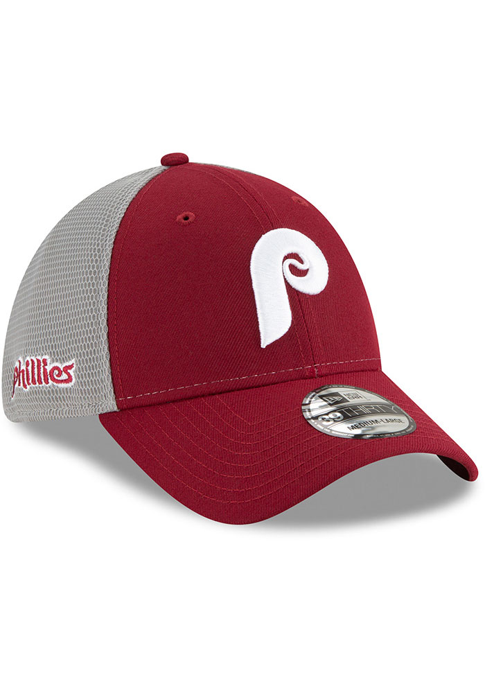 New Era Philadelphia Phillies Mens Maroon 2T Sided Coop 39THIRTY Flex Hat - Image 2