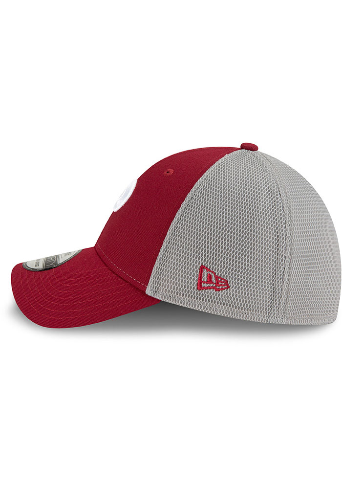 New Era Philadelphia Phillies Mens Maroon 2T Sided Coop 39THIRTY Flex Hat - Image 4
