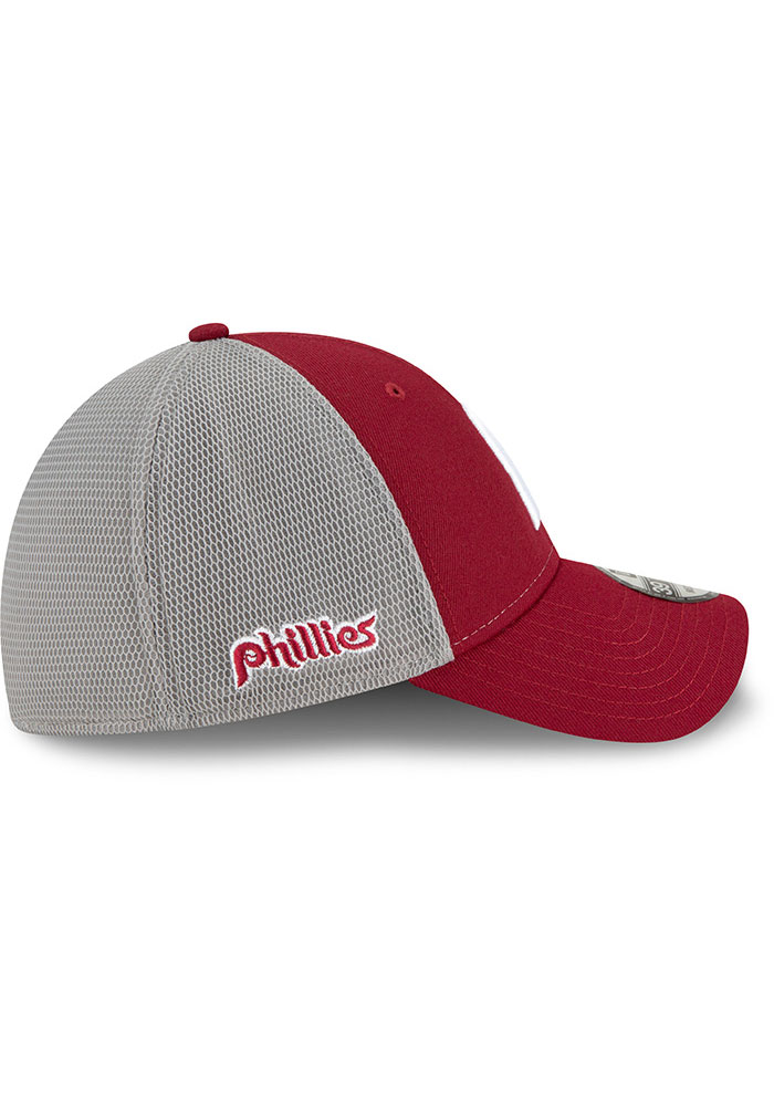 New Era Philadelphia Phillies Mens Maroon 2T Sided Coop 39THIRTY Flex Hat - Image 6