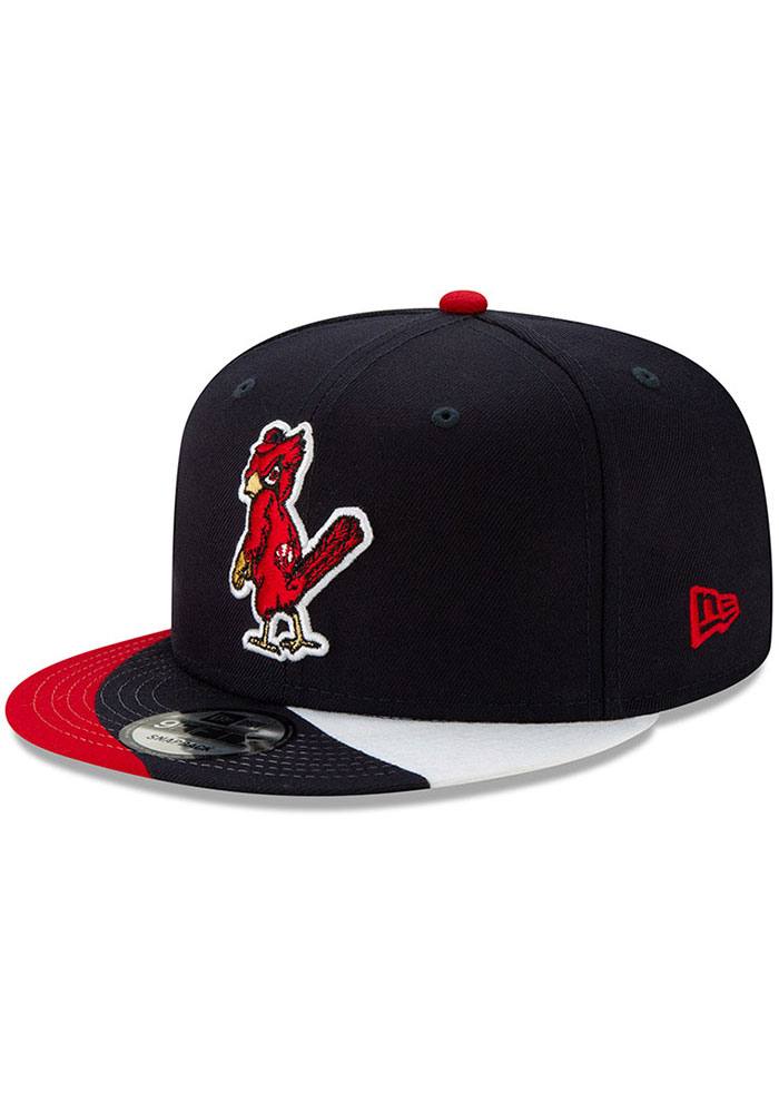 New Era St Louis Cardinals Navy Blue Curve Coop 9FIFTY Mens Snapback Hat - Image 1
