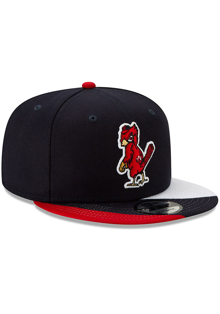 New Era St Louis Cardinals Navy Blue Curve Coop 9FIFTY Mens Snapback Hat - Image 2