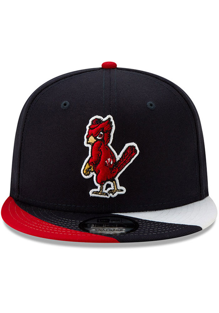 New Era St Louis Cardinals Navy Blue Curve Coop 9FIFTY Mens Snapback Hat - Image 3