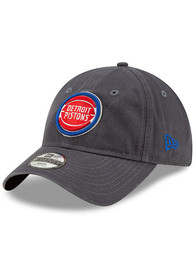 New Era Detroit Pistons Grey JR Core Classic 9TWENTY Youth Adjustable Hat