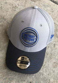 New Era Detroit Pistons Grey JR Gray Neo 39THIRTY Youth Flex Hat