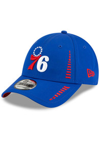 New Era Philadelphia 76ers Blue JR Speed 9FORTY Youth Adjustable Hat