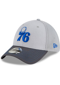 New Era Philadelphia 76ers Grey JR Gray Neo 39THIRTY Youth Flex Hat