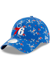 New Era Philadelphia 76ers Womens Blue Blossom 9TWENTY Adjustable Hat
