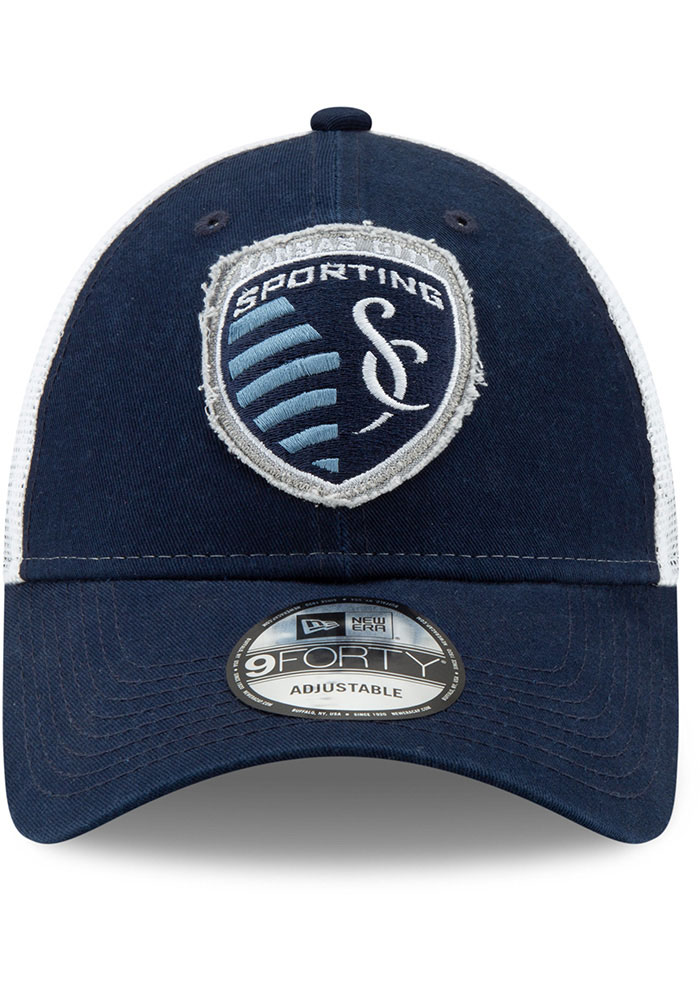 New Era Sporting Kansas City Navy Blue JR Team Truckered 9TWENTY Youth Adjustable Hat - Image 3