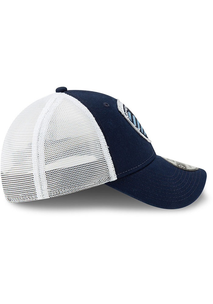 New Era Sporting Kansas City Navy Blue JR Team Truckered 9TWENTY Youth Adjustable Hat - Image 6