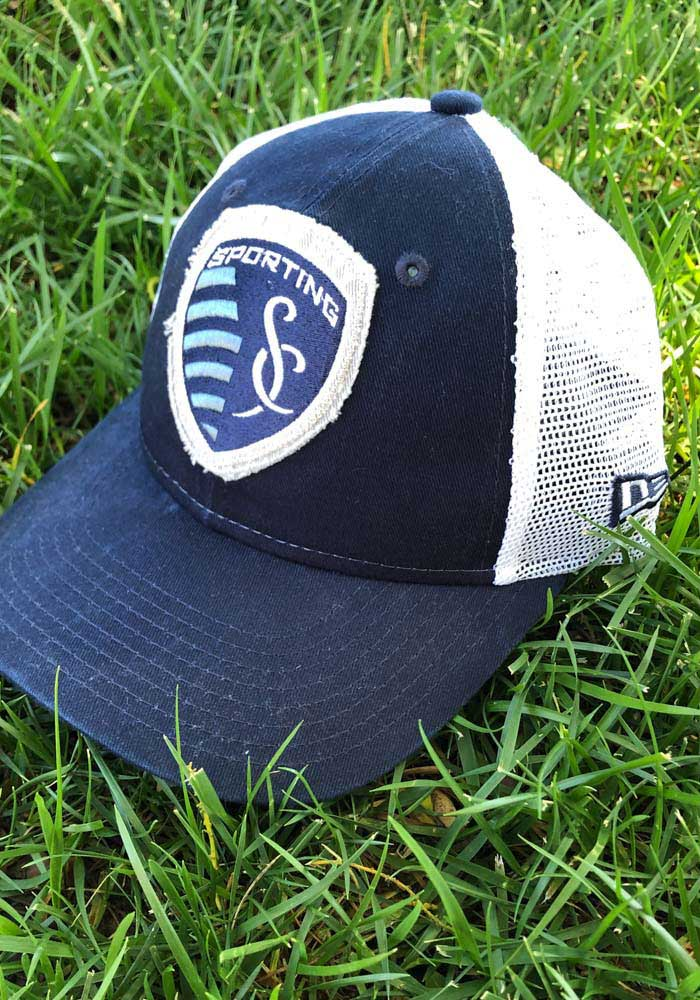 New Era Sporting Kansas City Navy Blue JR Team Truckered 9TWENTY Youth Adjustable Hat - Image 7