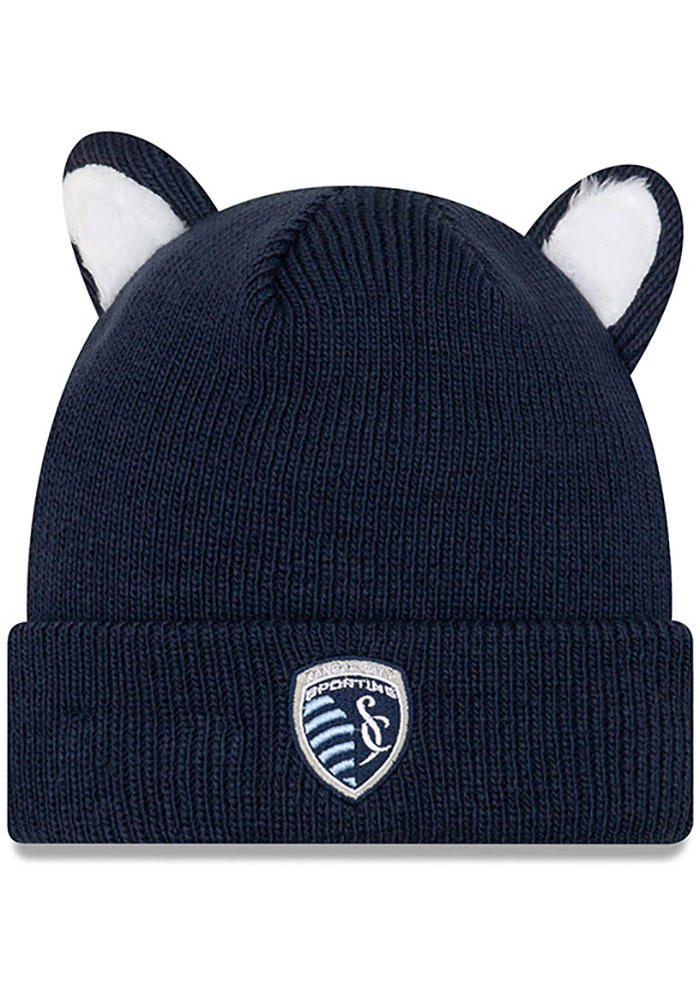 New Era Sporting Kansas City Cozie Cutie Baby Knit Hat - Navy Blue